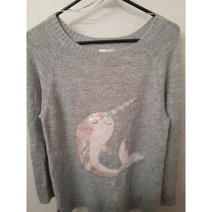 Lauren Conrad Sequin Narwhal Sweater